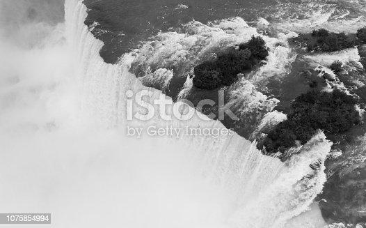 istock The Niagara River Cuts through the United States and Canada At Horseshoe Falls 1075854994