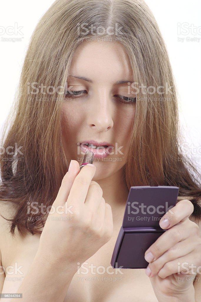 더 니체 여자아이 페인팅 입술모양 royalty-free 스톡 사진