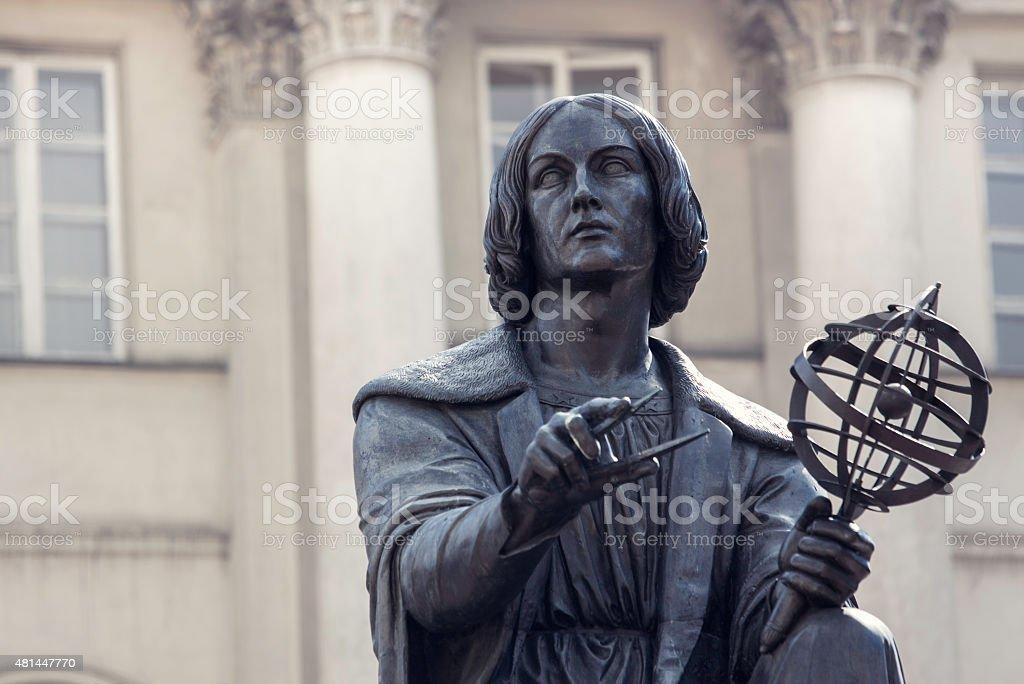 The Nicolaus Copernicus monument in Warsaw stock photo