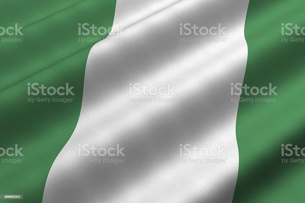 Bandera nigeriana - foto de stock