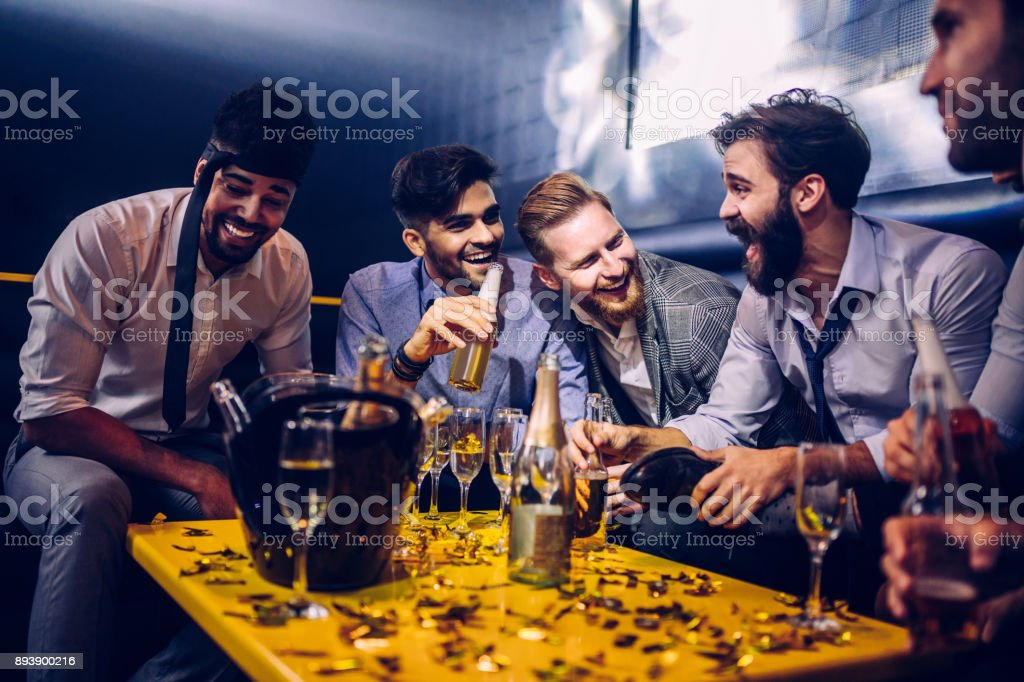 The night is just getting going stock photo