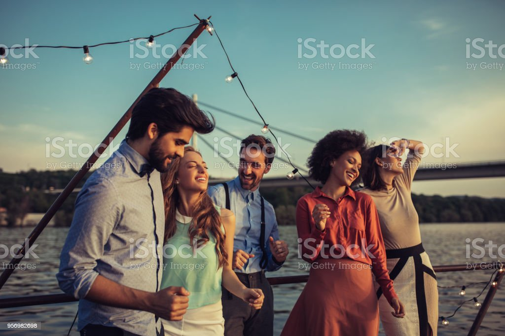 The night is just getting started stock photo
