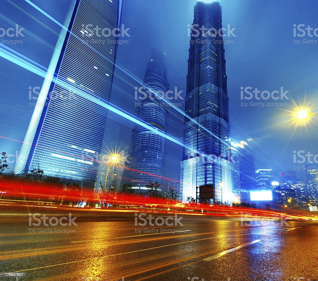 the night of shanghai royalty-free stock photo