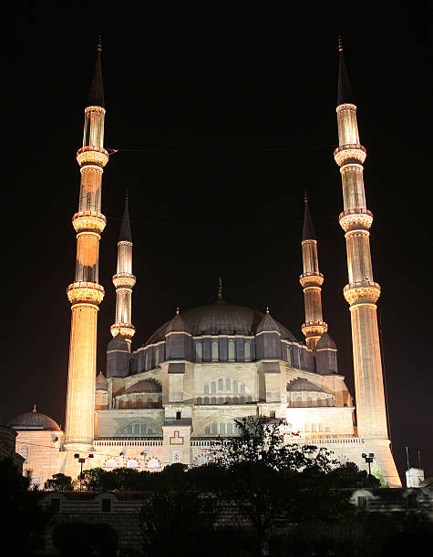 The night view of Selimiye mosque  selimiye mosque night stock pictures, royalty-free photos & images