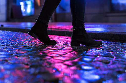 The Night Walk Stock Photo - Download Image Now
