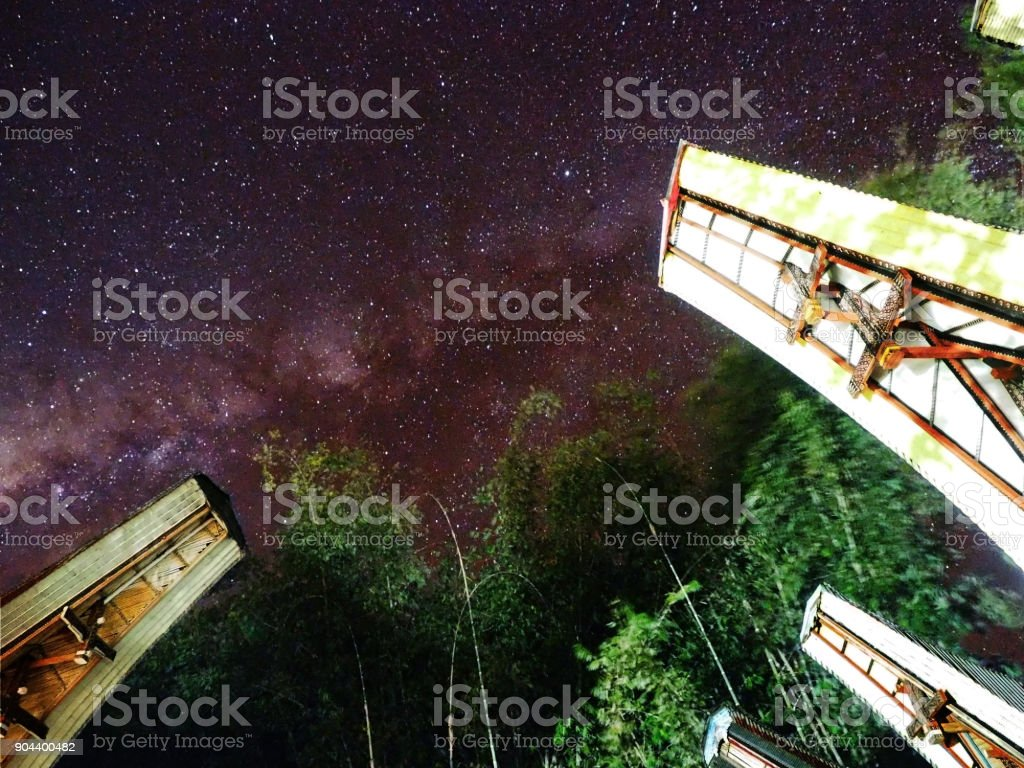 The night when a star falls stock photo