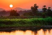 Egypt. Sunrise at the Nile cruise