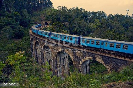 The Nine Arches Bridge is one of the iconic bridges in Sri Lanka.
