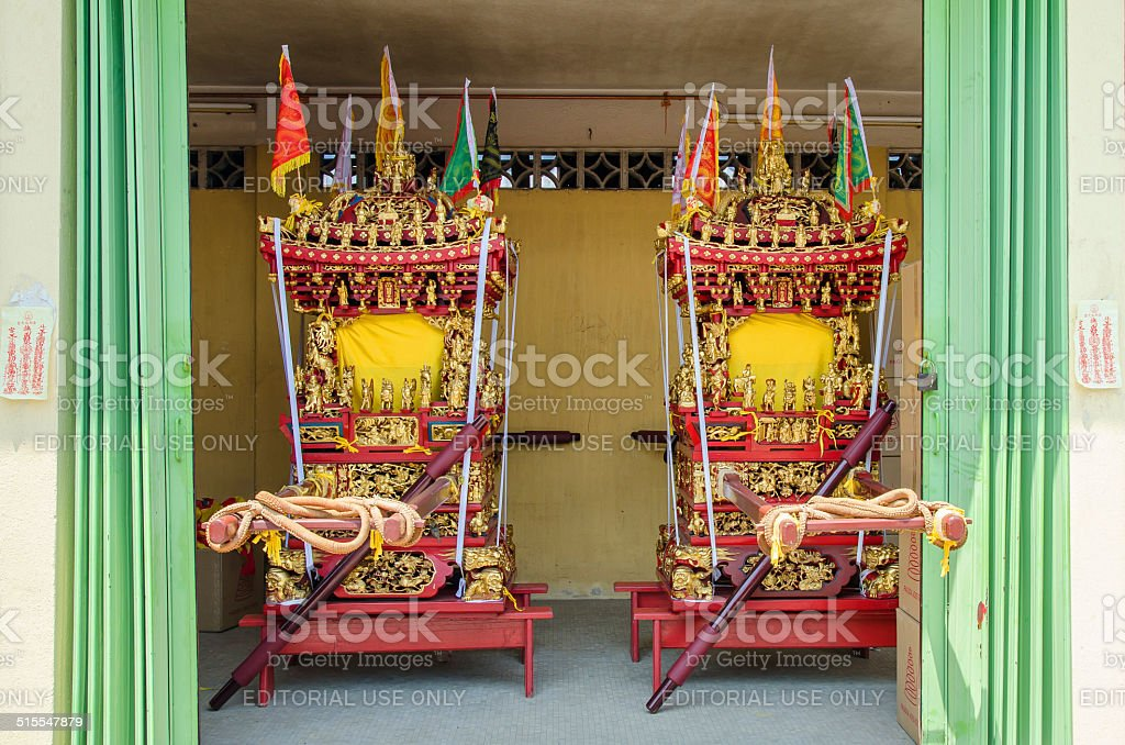 The Nine Emperor Gods Festival in Ampang stock photo