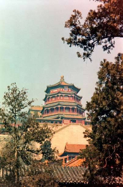 The nineties. The Summer Place 1992. Beijing, China. stock photo