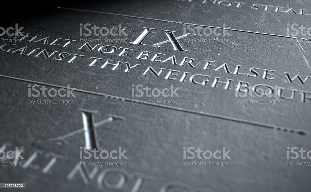 The Ninth Commandment stock photo