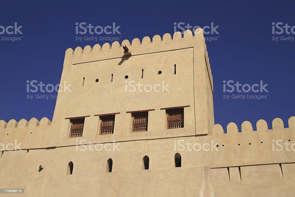 The Nizwa Fort royalty-free stock photo