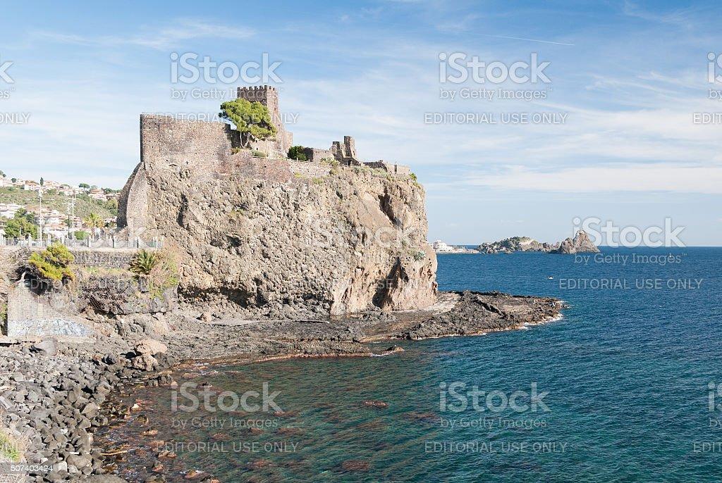 Il Castello normanno di Acicastello - foto stock