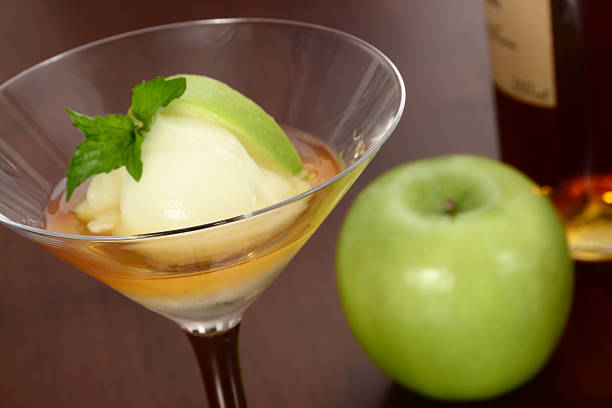 Le Trou Normand Le Trou Normand is a traditional French dessert or palate cleanser consisting of Calvados brandy and green apple sorbet.More images from this series: calvados stock pictures, royalty-free photos & images