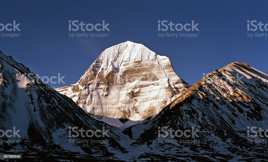 The North Face of Mount Kailash. stock photo
