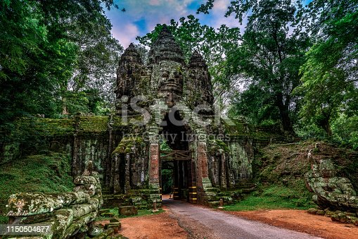 istock The North Gate of Angkor Thom 1150504677