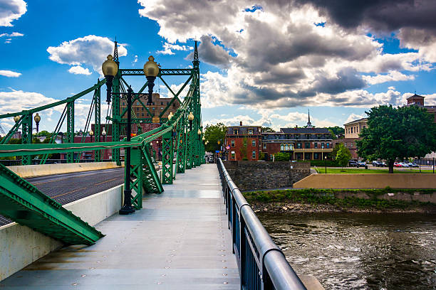 The Northampton Street Bridge over the Delaware River in Easton, stock photo