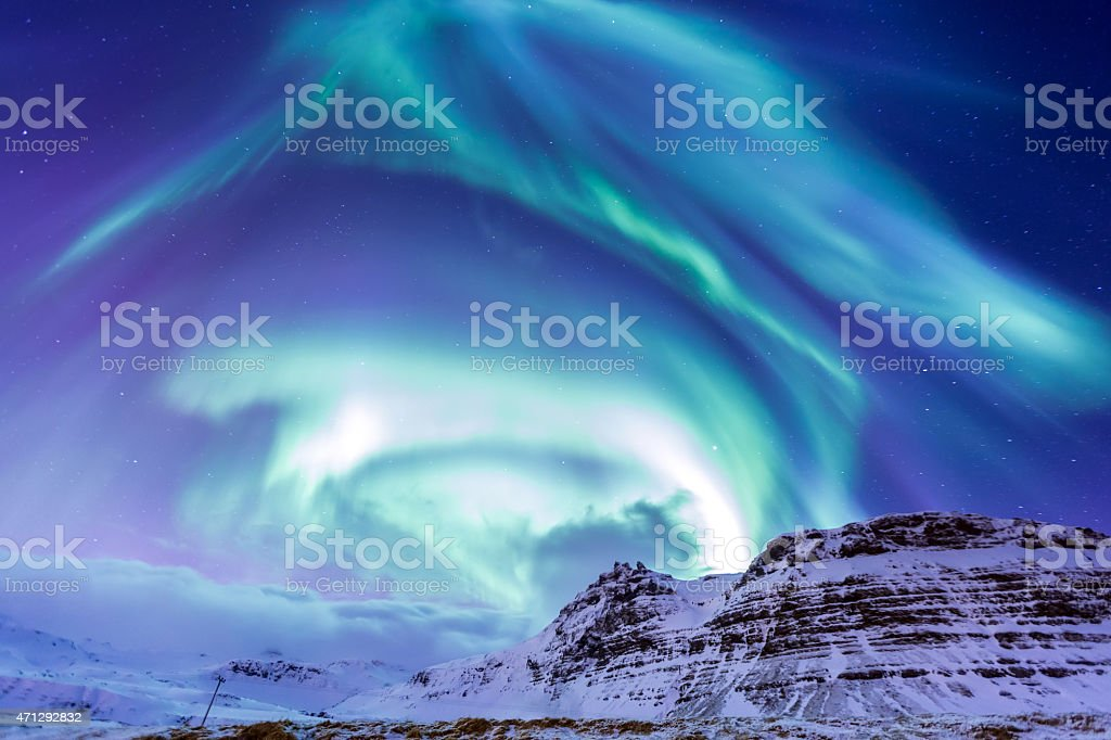 The Northern Light Aurora Iceland stock photo