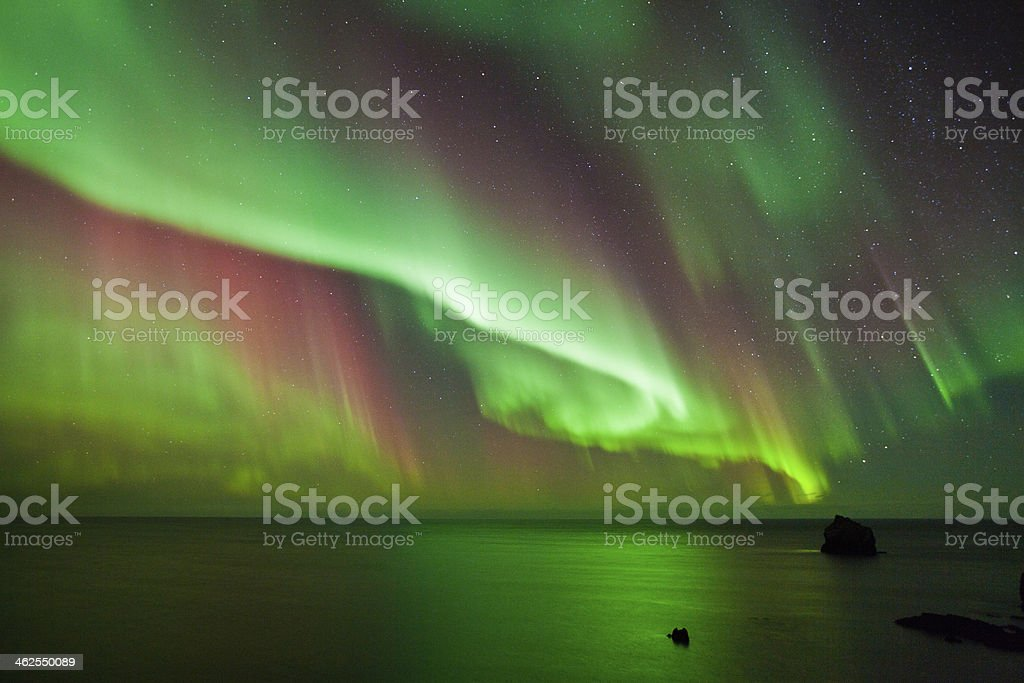 The Northern Lights Aurora stock photo