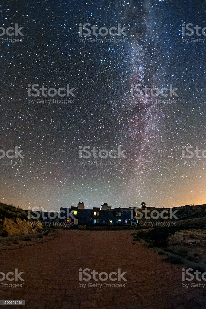 The northern milky way royalty-free stock photo