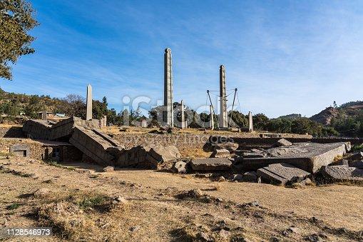 istock The Northern Stelae Park of Aksum, famous obelisks in Axum, Ethiopia 1128546973