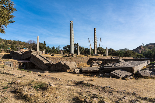 istock The Northern Stelae Park of Aksum, famous obelisks in Axum, Ethiopia 1128546973