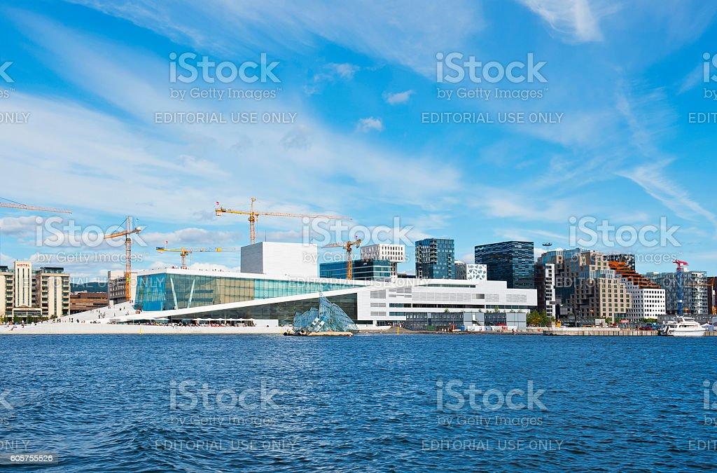 The Norwegian National Opera & Ballet and Barcode stock photo