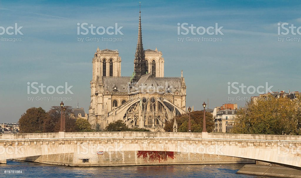 The Notre Dame cathedral , Paris,France. stock photo