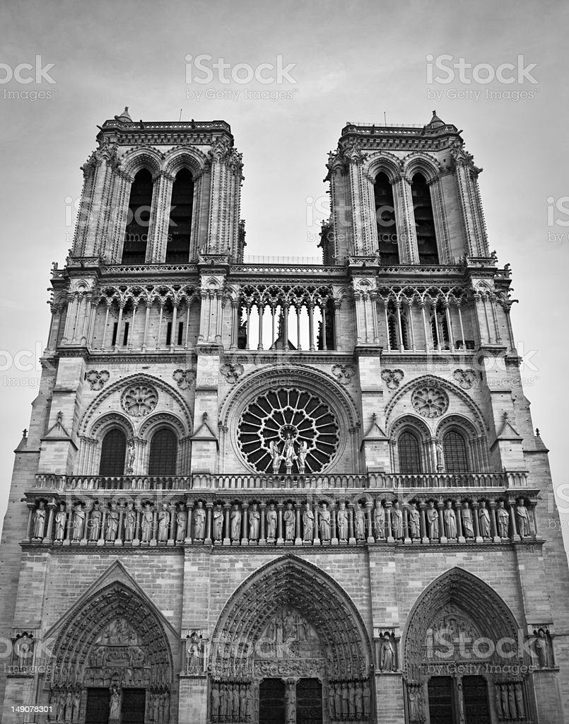The Notre Dame in Paris royalty-free stock photo