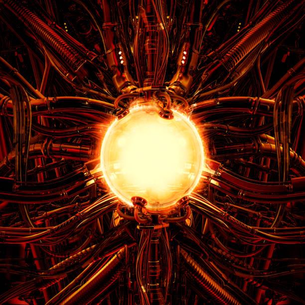 The nuclear pod stock photo