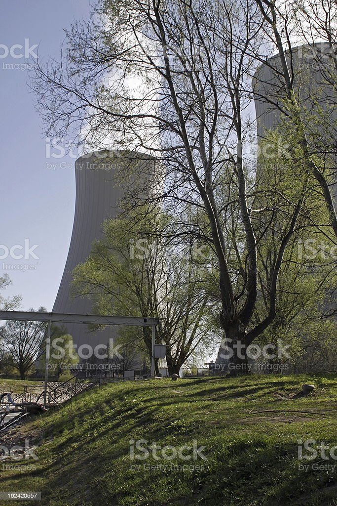 The Nuclear power plant Grohnde (Germany) stock photo