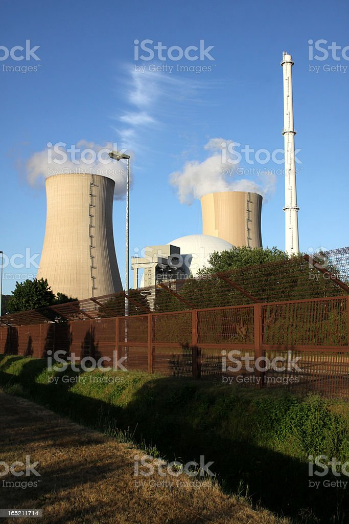 The Nuclear power plant Grohnde (Germany) royalty-free stock photo