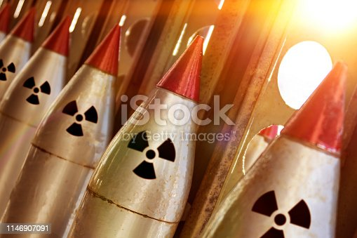 istock The nuclear warheads of a ballistic missile are aimed upwards for a nuclear strike. 1146907091