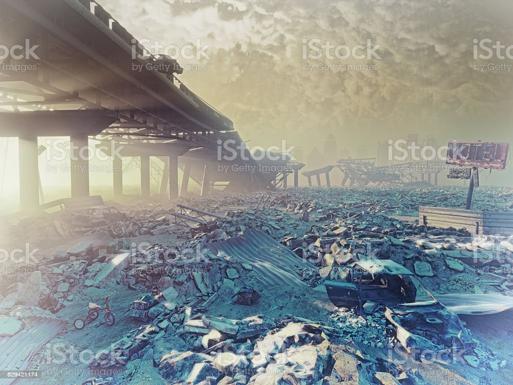 The nuclear winter stock photo