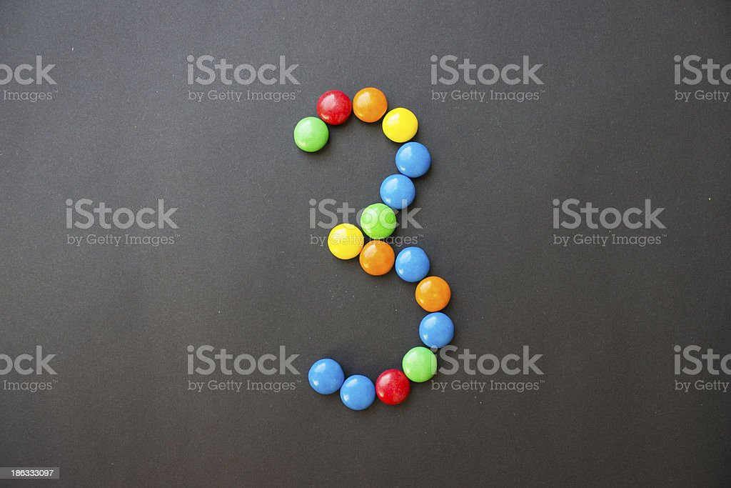 The number 3 three stock photo