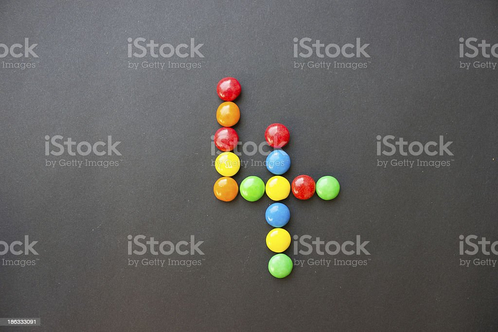 The number 4 four stock photo