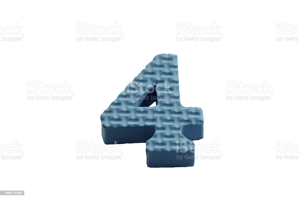 The Number 4 royalty-free stock photo