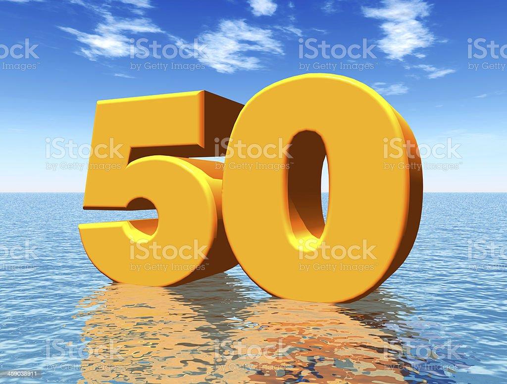 Die Zahl 50 – Foto