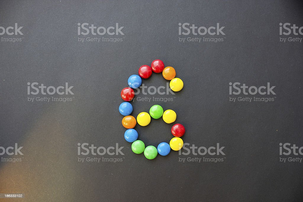 The number 6 six stock photo