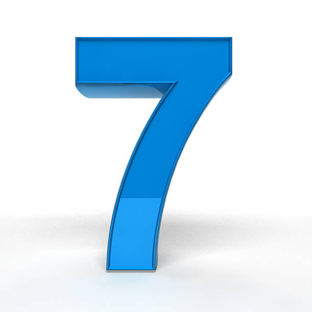 The Number 7 stock photo