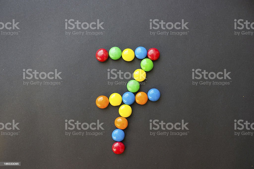 The number 7 seven stock photo