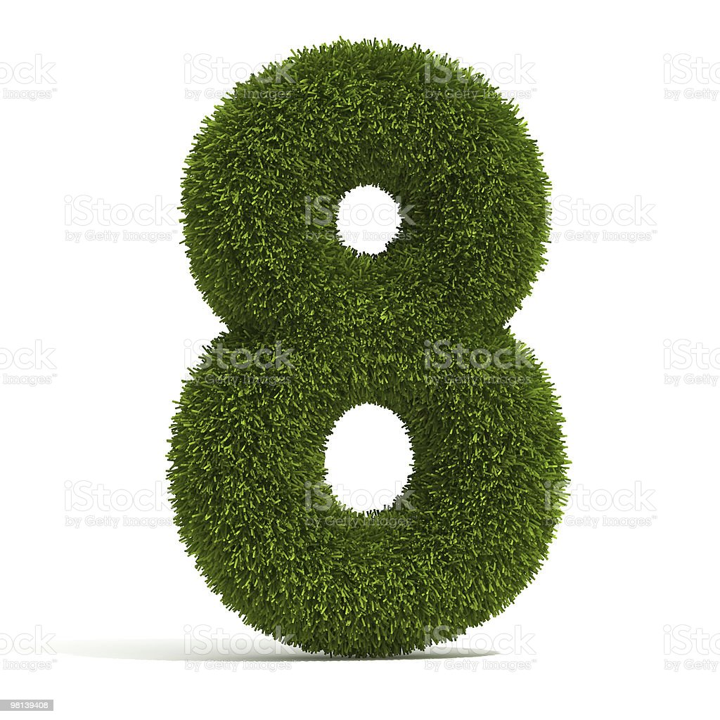 The Number 8 - Grass royalty-free stock photo