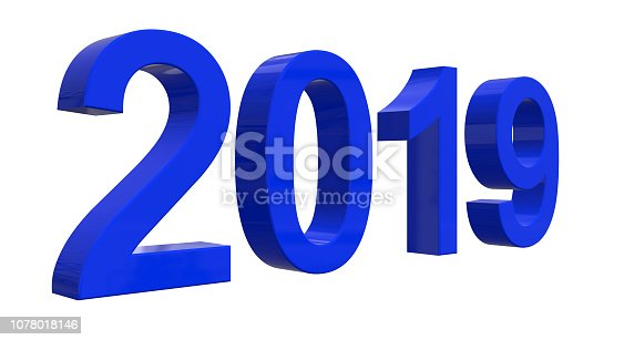 istock The number of 2019 in shiny blue numbers in front of a white background 1078018146