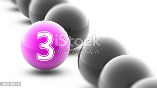 istock The Number on the ball. 1044506666