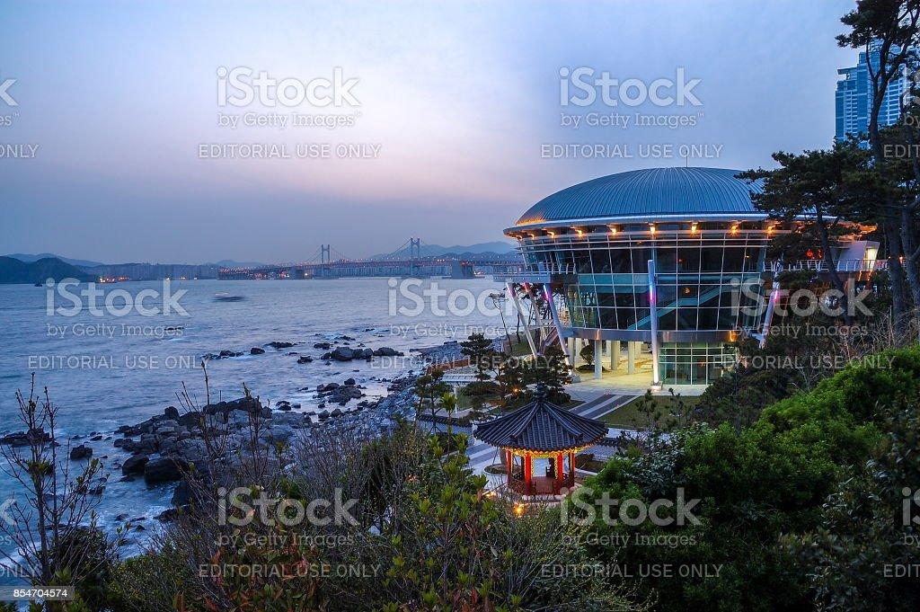 The Nurimaru APEC House in Busan, South Korea stock photo