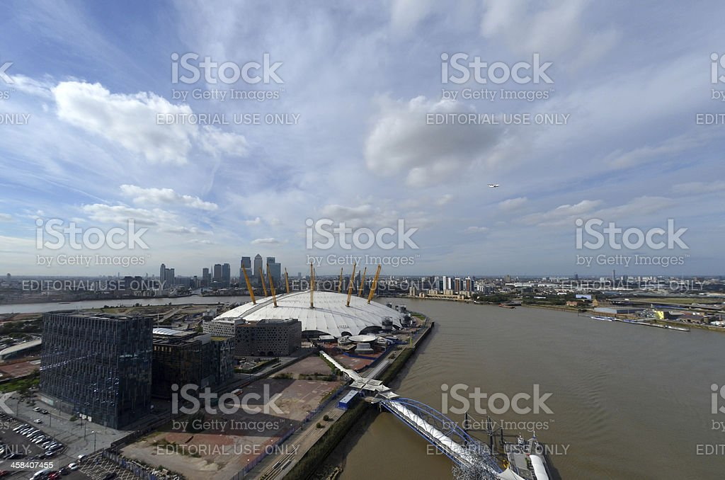 The O2 Arena in London stock photo