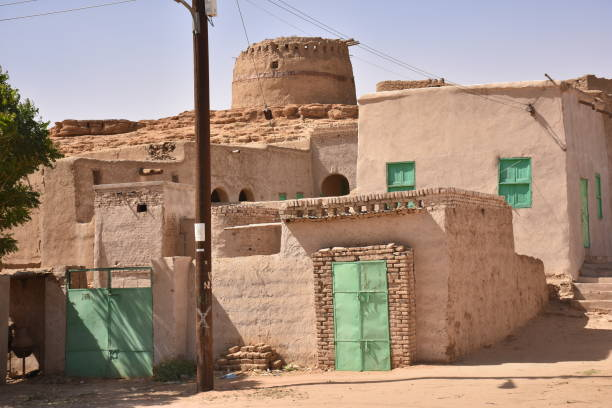 the oasis city of kerma sudan - sudan stock photos and pictures