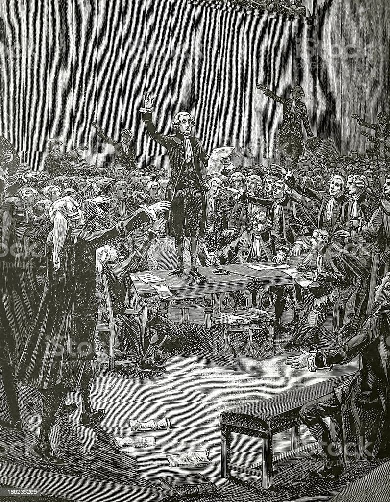 The 'Serment du Jeu de Paume', French revolution stock photo