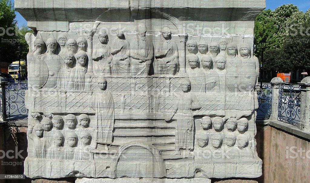 The Obelisk of Theodosius at the Hippodrome stock photo