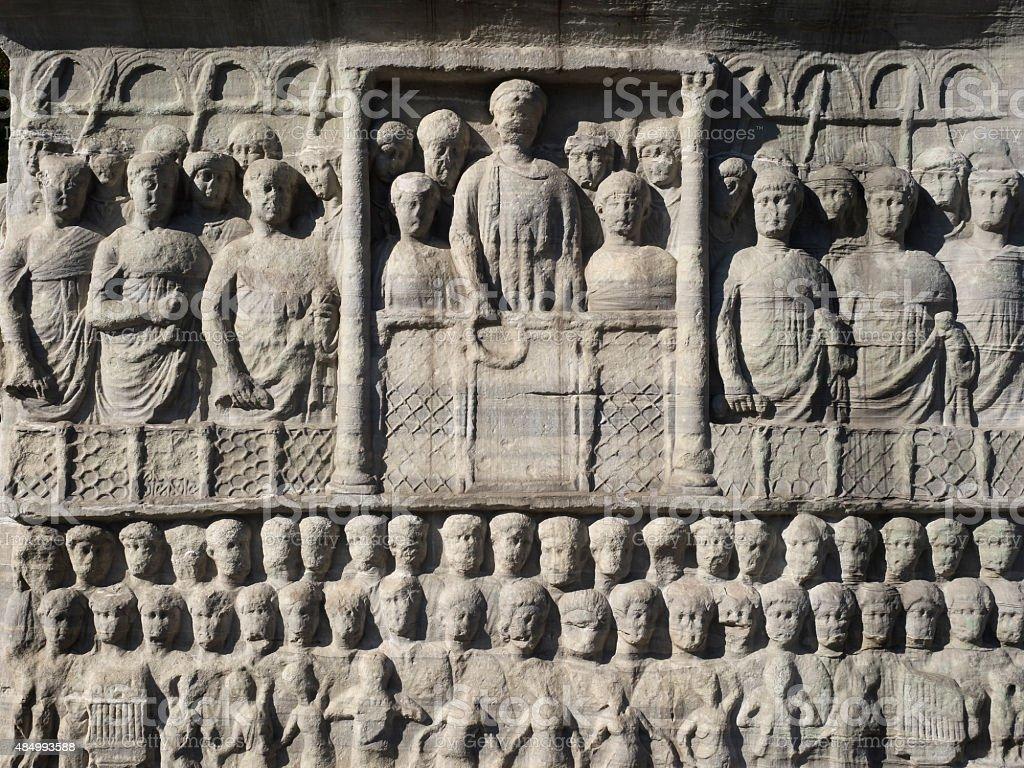 The Obelisk of Theodosius at the Hippodrome ,Sultanahmet,Istanbul stock photo